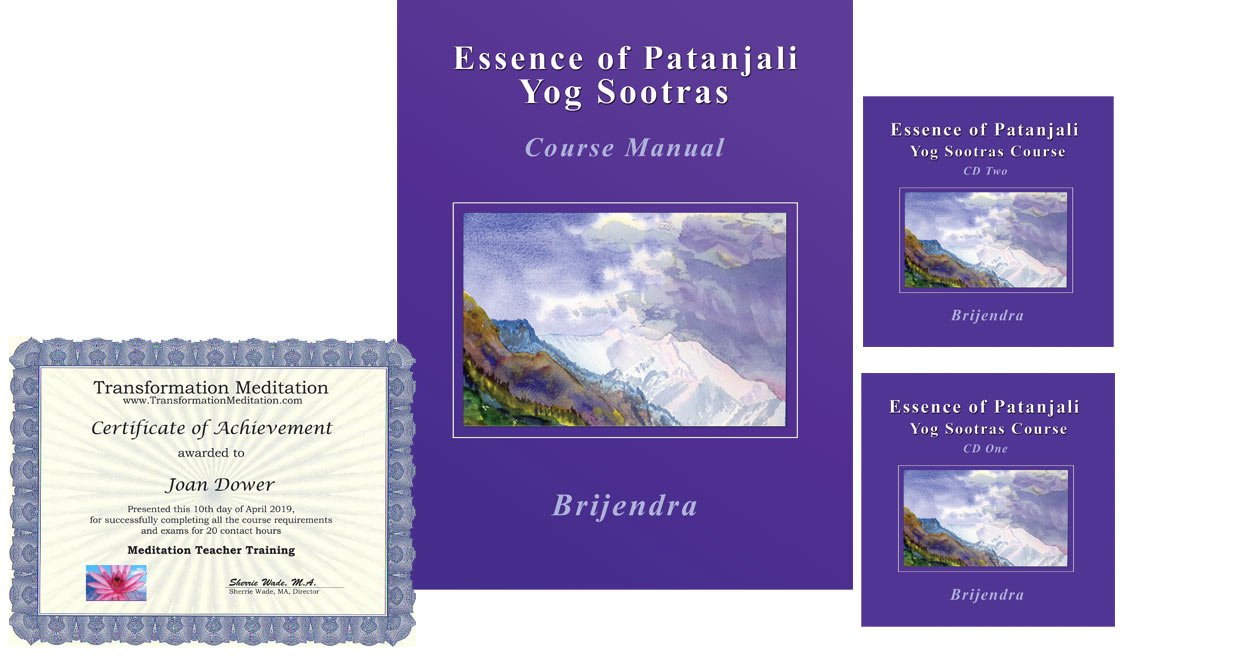 Yoga Sutras of Patanjali, Yoga Sutras Explained/Online Course