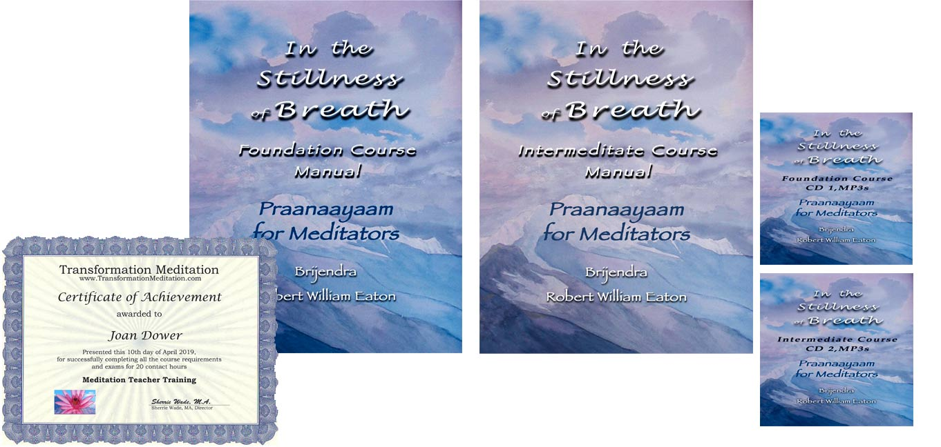 How to Do Pranayama Breathing - The Stillness of Breath: Praanaayaam for Meditators Home Study Course for Teachers. Pranayama Techniques and more!